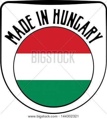 Made in Hungary badge sign. Vector illustration