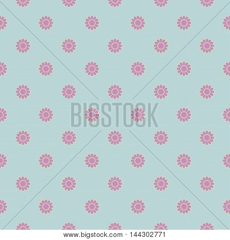 Seamless floral pattern. Vecto image with cute flowers.