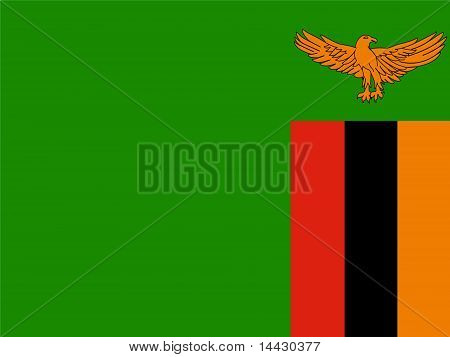 Zambia National Flag