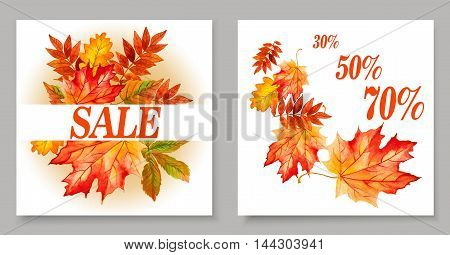 Autumn sales banners for web or print