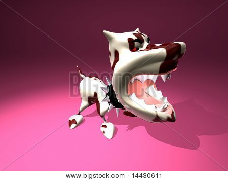 3D generated agressive dog