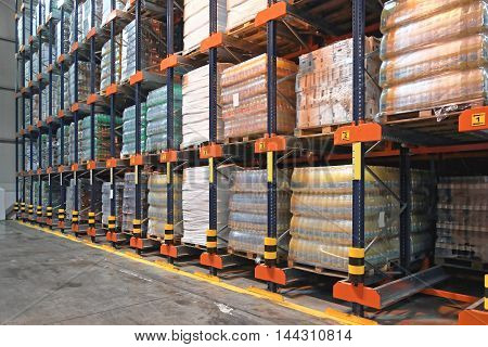 Shelves With Automated Retrieval System in Distribution Centre