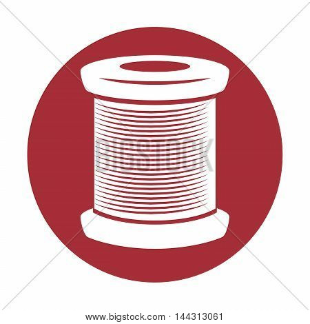 stitching thread character icon vector illustration graphic