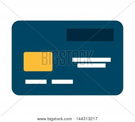 credit card isolated icon vector illustration, eps10