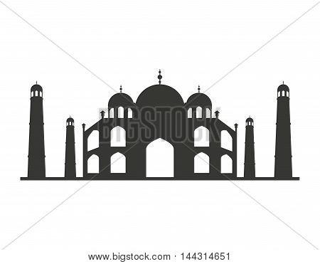 taj mahal isolated icon vector illustration, eps10