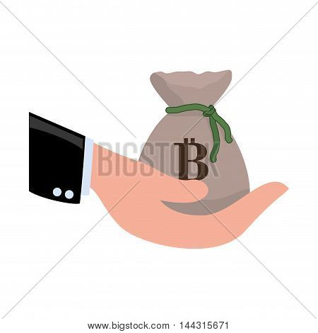 purse money bag financial item commerce market icon. Flat and Isolated design. Vector illustration