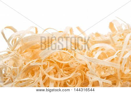 wood shavings design on a white background