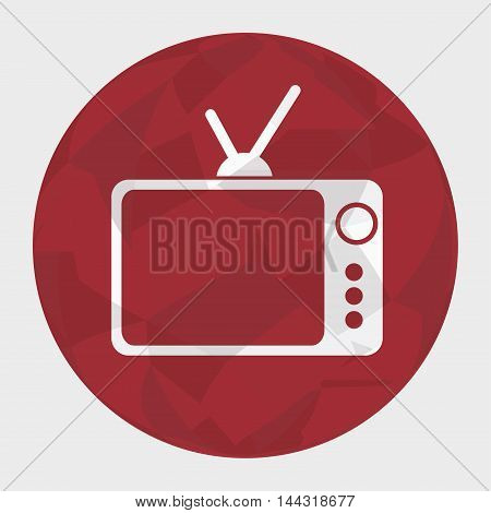 retro tv silhouette icon vector illustration graphic