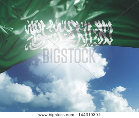 Saudi Arabia flag on a beautiful day