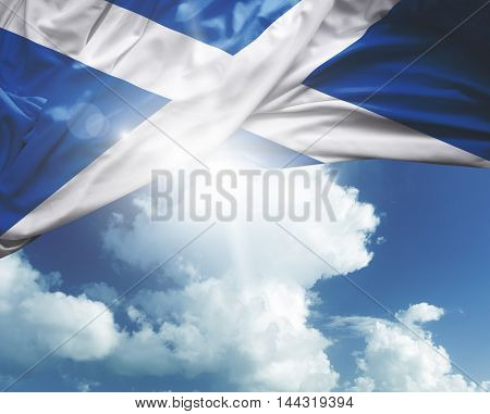 Scotland flag on a beautiful day