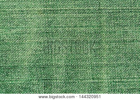 Abstract Green Jeans Texture.