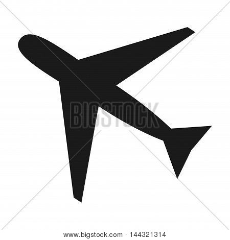 airplane transportation travel trip tourism icon. Flat and isolated design. Vector illustration
