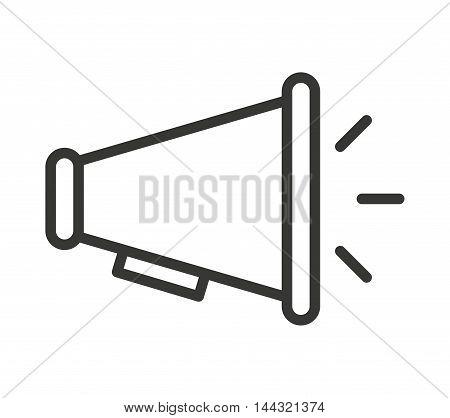megaphone sound silhouette icon vector illustration design