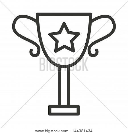 trophy award isolated icon vector illustration design