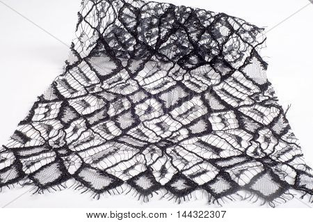 Texture, background. lace. a fine open fabric, typically one of cotton or silk, made by looping, twisting, or knitting thread in patterns and used especially for trimming garments.