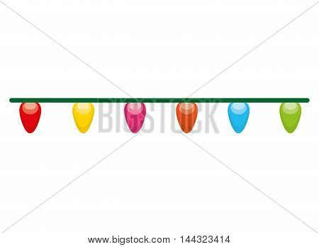 lights colors bulbs isolated vector illustration design