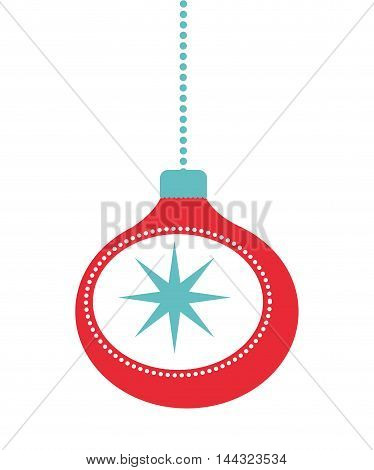 christmas balls isolated decoration vector illustration design