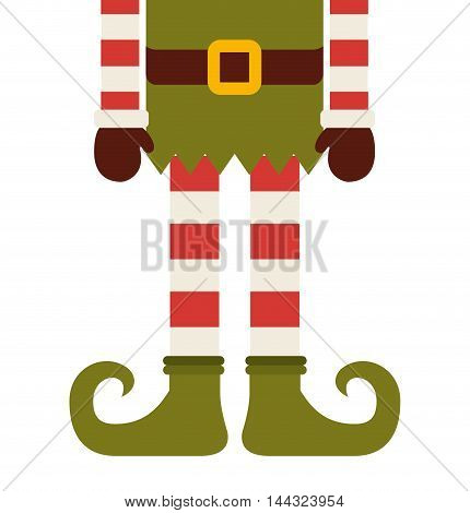 christmas elf character isolated icon vector illustration design