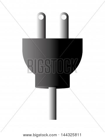 plug cable power energy electricity icon. Flat and isolated design. Vector illustration