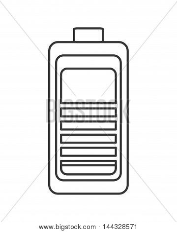 battery power energy charge level  icon. Flat and isolated design. Vector illustration