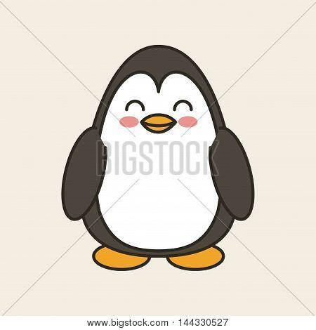 cute penguin tender isolated icon vector illustration design