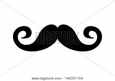mustache man male fashion hair style icon. Flat and isolated design. Vector illustration