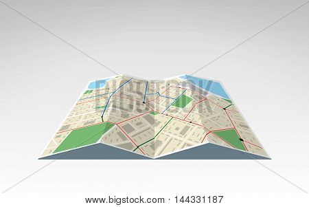 travel, cartography, location, navigation and geography concept - illustration of world map