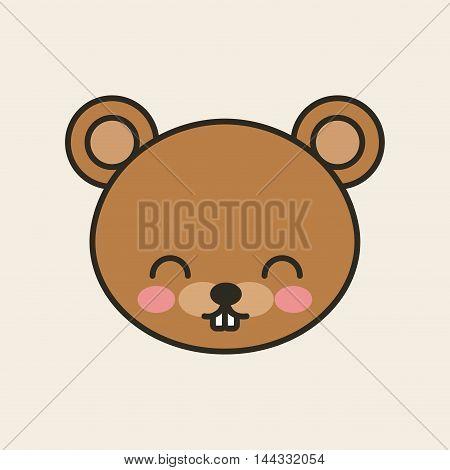 cute bear tender isolated icon vector illustration design