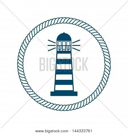 frame maritime nautical isolated vector illustration design