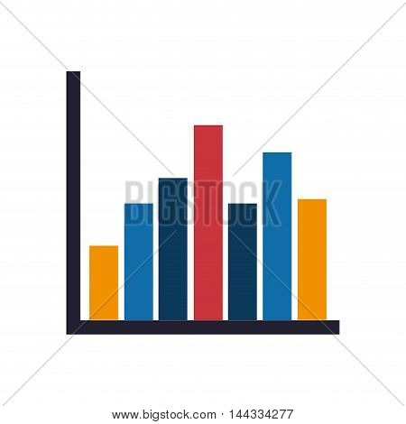 bars data infographic graphic business icon. Flat and isolated design. Vector illustration