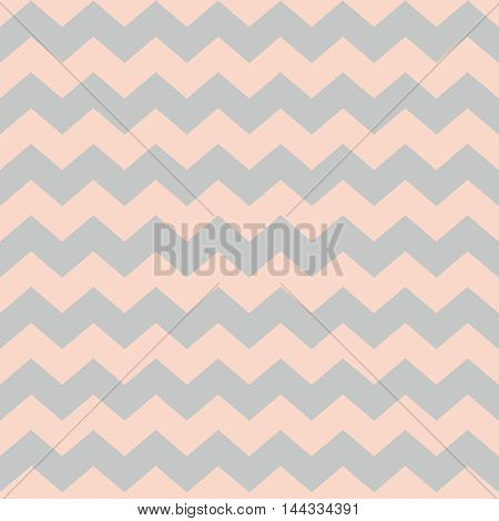 Zig zag chevron pastel pink and grey tile vector pattern