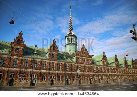 The Borsen Oldest Building in Slotsholmen in Copenhagen Denmark
