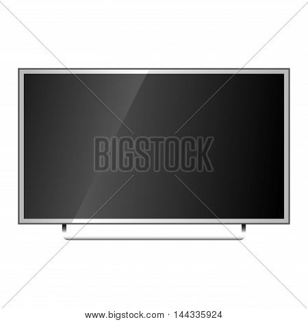 TV screen lcd monitor template vector illustration. Electronic device TV screen infographic. Technology digital device TV screen, size diagonal display vector illustration. Screen monitor