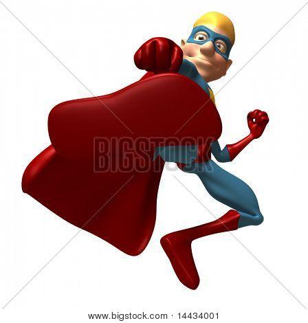 Blond superhero
