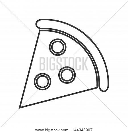 pizza snack lunch fast food icon. Flat and Isolated design. Vector illustration