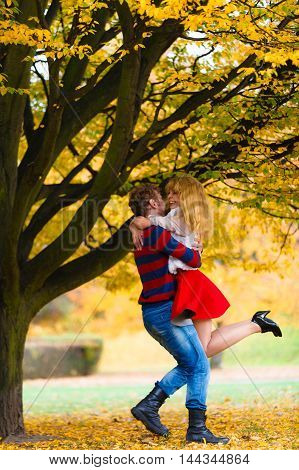 Young Couple Meet In Park On Date.