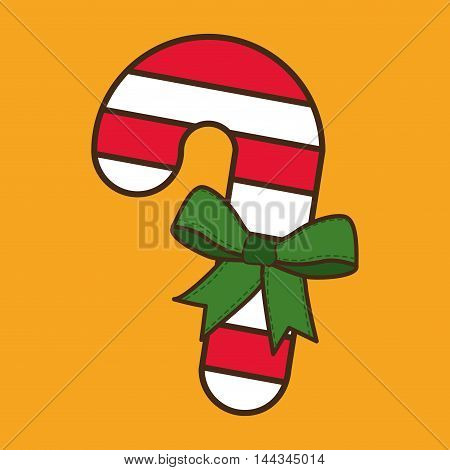 candy bowtie  merry christmas decoration celebration con. Colorful and flat design. Vector illustration