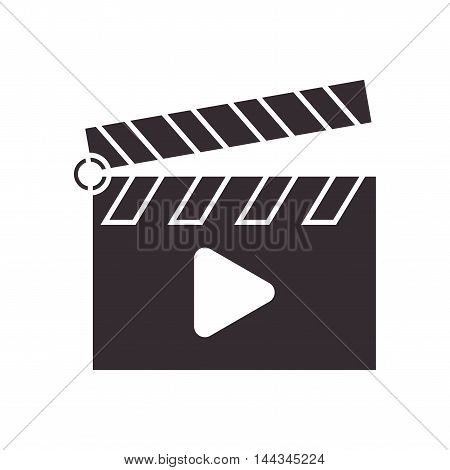 play videocamera clapboard movie icon. Flat and Isolated design. Vector illustration
