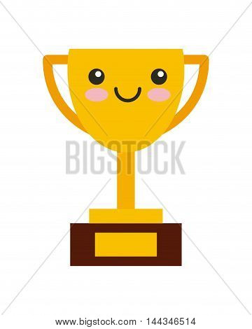 trophy kawaii character isolated icon vector illustration design