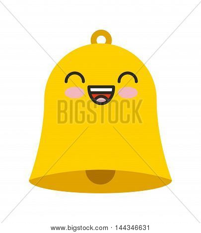 school bell kawaii character isolated icon vector illustration design