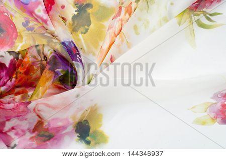 Silk fabric texture. flowers Photography Studio  design, colorful, wallpaper,
