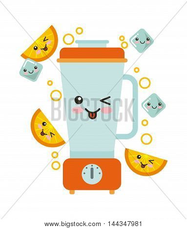 juice fruit kawaii character isolated icon vector illustration design