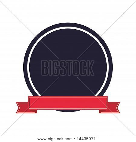 seal stamp abel ribbon banner vintage icon. Flat and Isolated design. Vector illustration