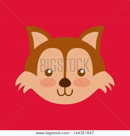 cute head animal isolated icon vector illustration design