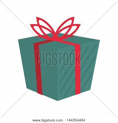 gift merry christmas celebration icon. Flat and Isolated design. Vector illustration
