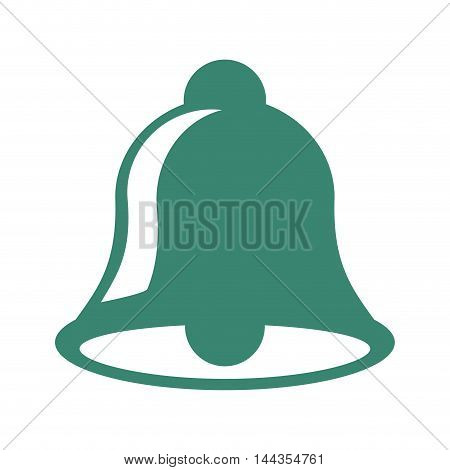 bell merry christmas celebration icon. Flat and Isolated design. Vector illustration