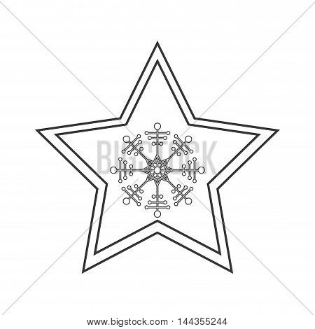 snowflake merry christmas celebration icon. Flat and Isolated design. Vector illustration