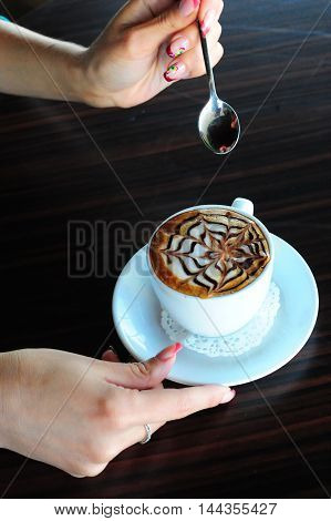 Cappuccino, Coffee,