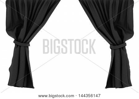 Curtains Isolated On White Background