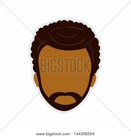 man male head avatar person icon. Isolated and flat illustration. Vector graphic